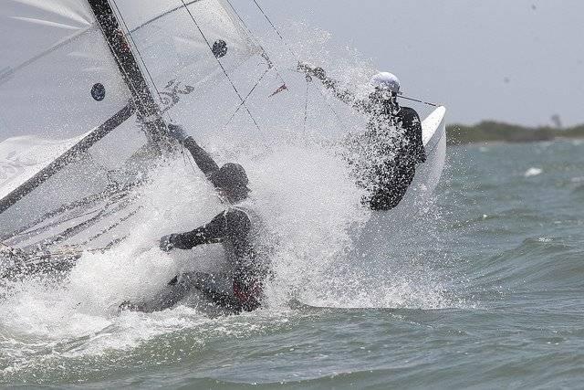 El equipo de vela practicó ayer en aguas colombianas