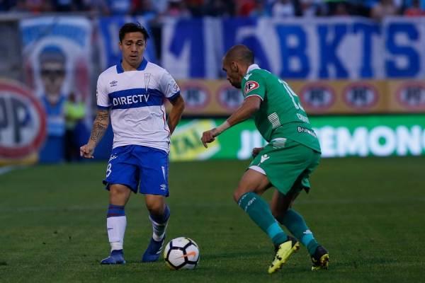 Jaime Carreño sólo jugó 263 minutos en el primer semestre en la UC / Foto: Agencia UNO
