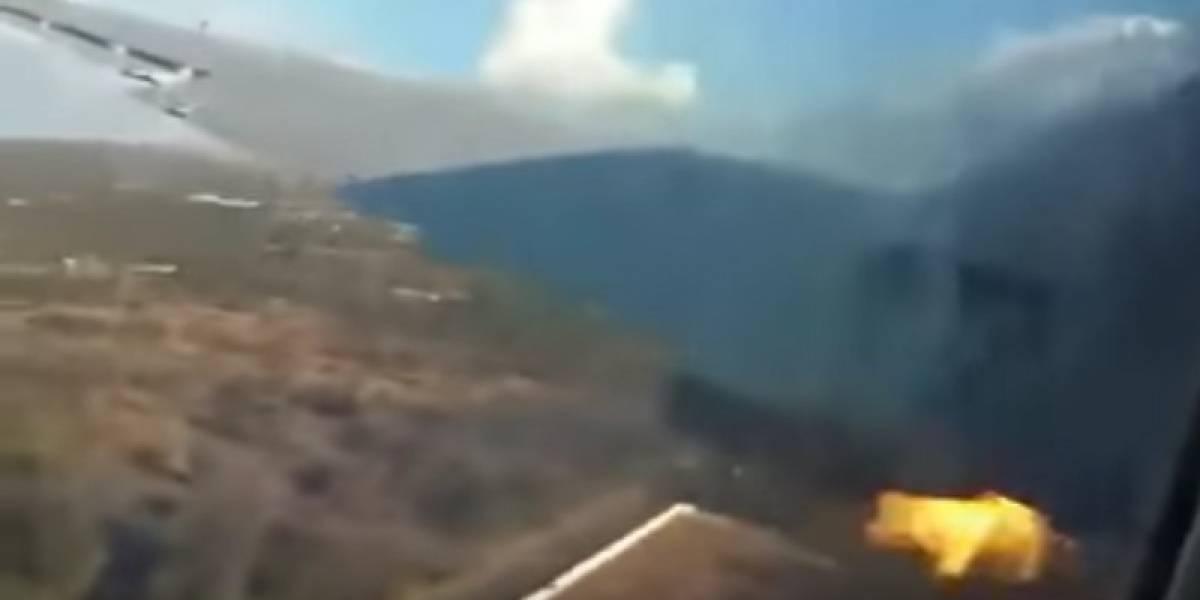 Una gran explosión y luego todo se va a negro: las impactantes imágenes captadas por un pasajero que grabó la caída del avión en que viajaba