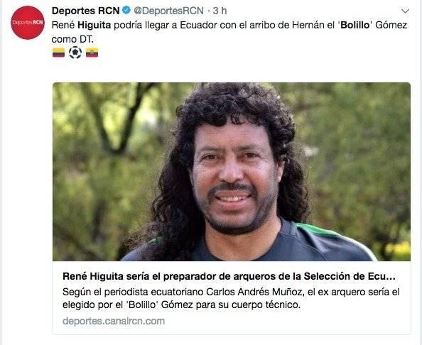 René Higuita podría trabajar con El Bolillo Gómez en la Selección de Ecuador Captura de pantalla RCN
