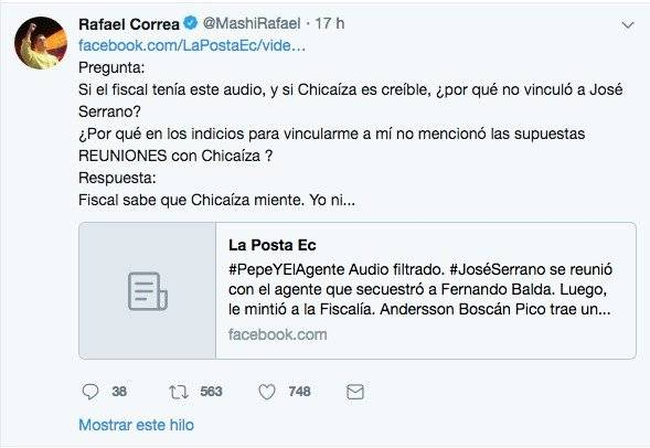 Tuits de Rafael Correa