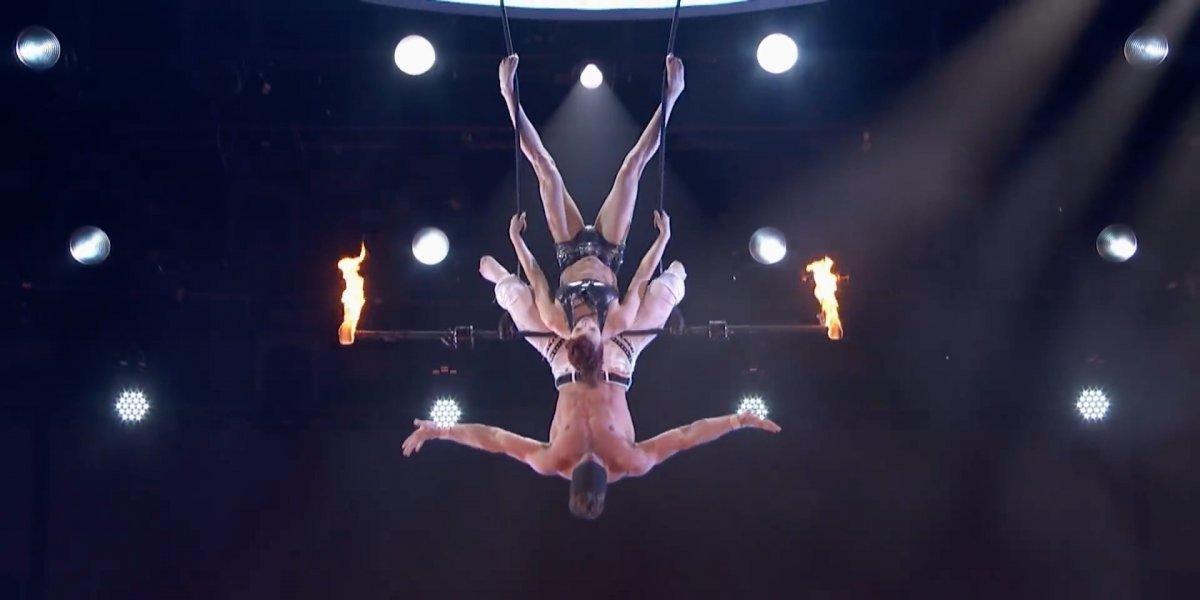 ¡Qué miedo! Accidente de trapecista queda registrado en programa de talentos en Estados Unidos