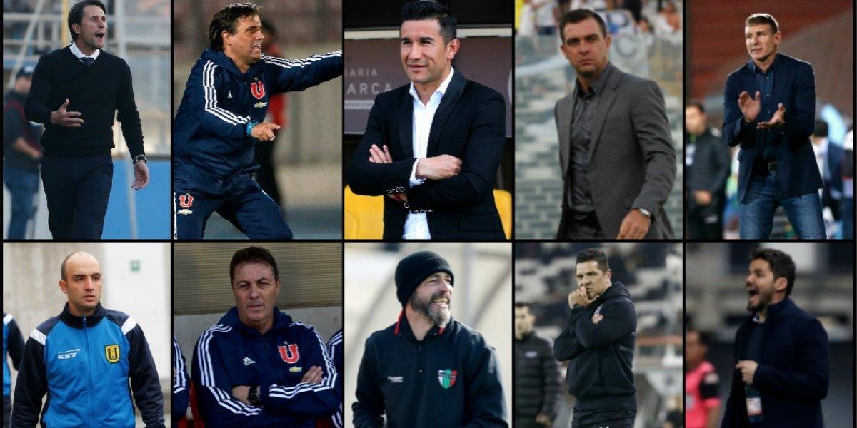 Se fueron 13, tres clubes cambiaron dos veces y seis se mantienen: la montaña rusa de entrenadores del fútbol chileno 2018