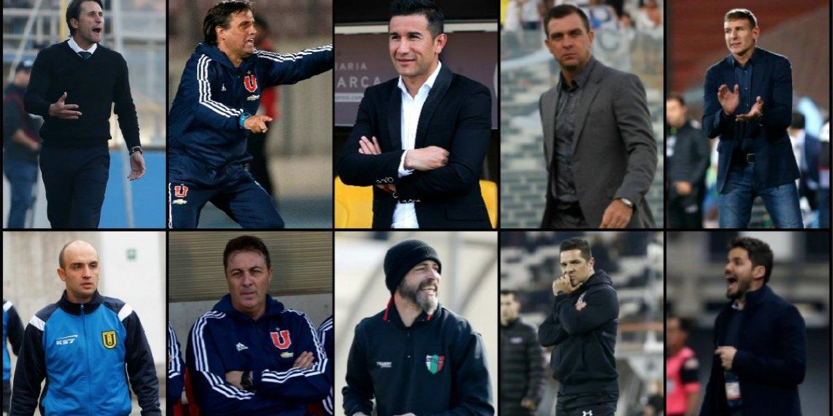Eran 16, se fueron 10 y quedan seis: la montaña rusa de entrenadores que marca al fútbol chileno en 2018