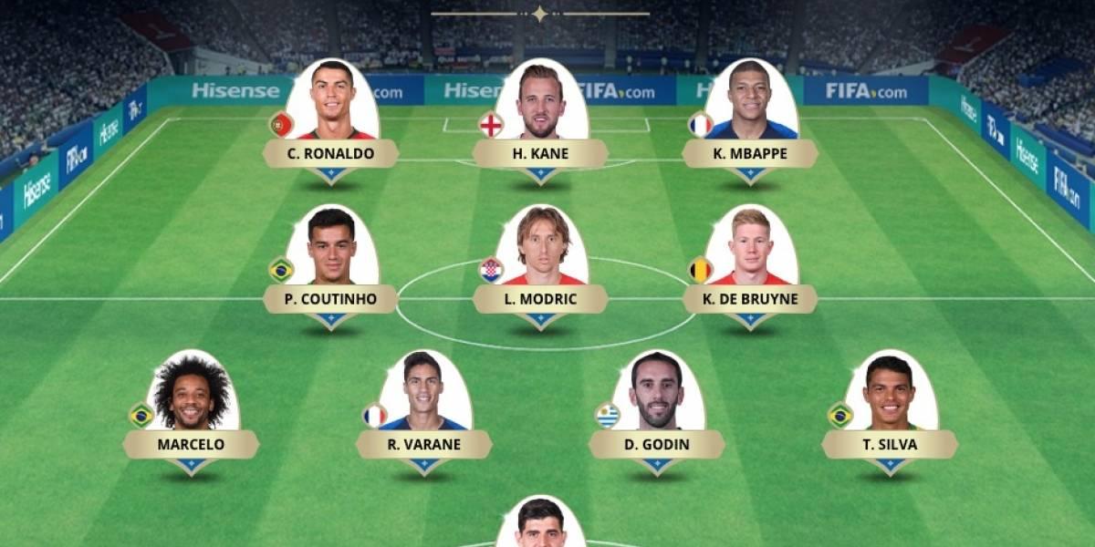 """Con Cristiano, sin Hazard ni Griezmann: FIFA anuncia el """"Dream Team"""" del Mundial elegido por los hinchas"""