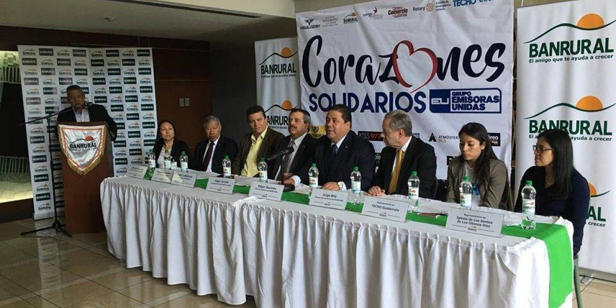 Anuncian recaudación de casi un millón de quetzales para apoyar a damnificados