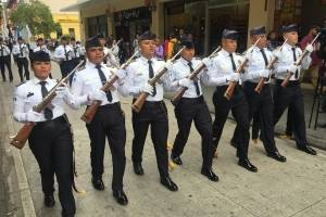 desfile de la PNC por XXI Aniversario