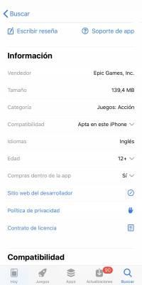 Los requerimientos del iOS