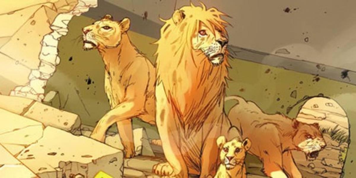 Os Leões de Bagdá: HQ narra jornada dos felinos pela liberdade