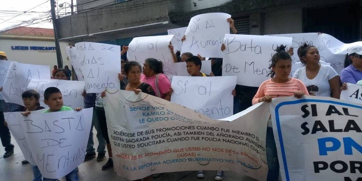Manifestación PNC
