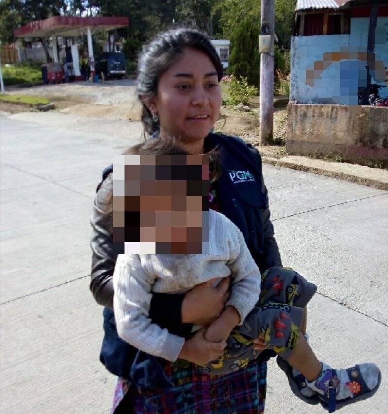 niña con desnutrición es rescatada en Sololá