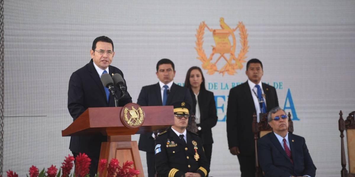 Presidente a elementos de PNC: Por gente mala señalan a toda una institución y eso no nos debe debilitar