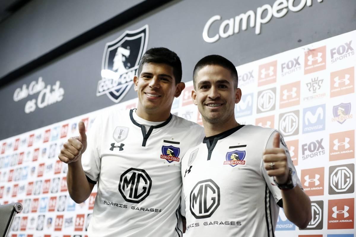 Esteban Pavez y Damián Pérez (Colo Colo) Photosport