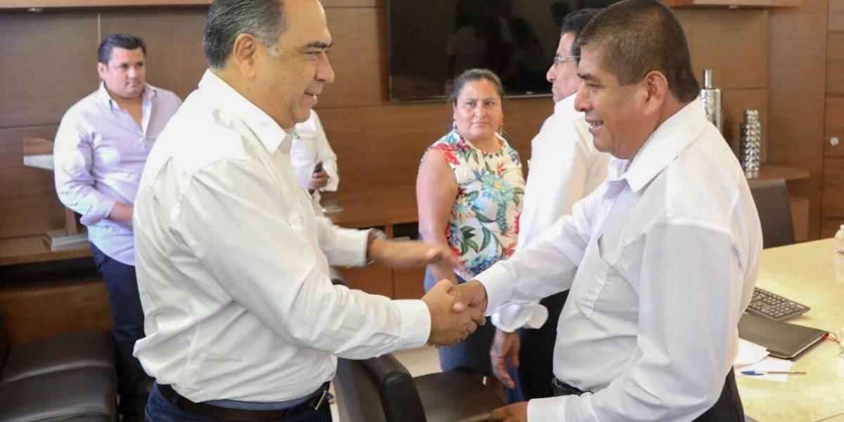 Candidatos electos por usos y costumbres en Guerrero se reúnen con el gobernador Astudillo