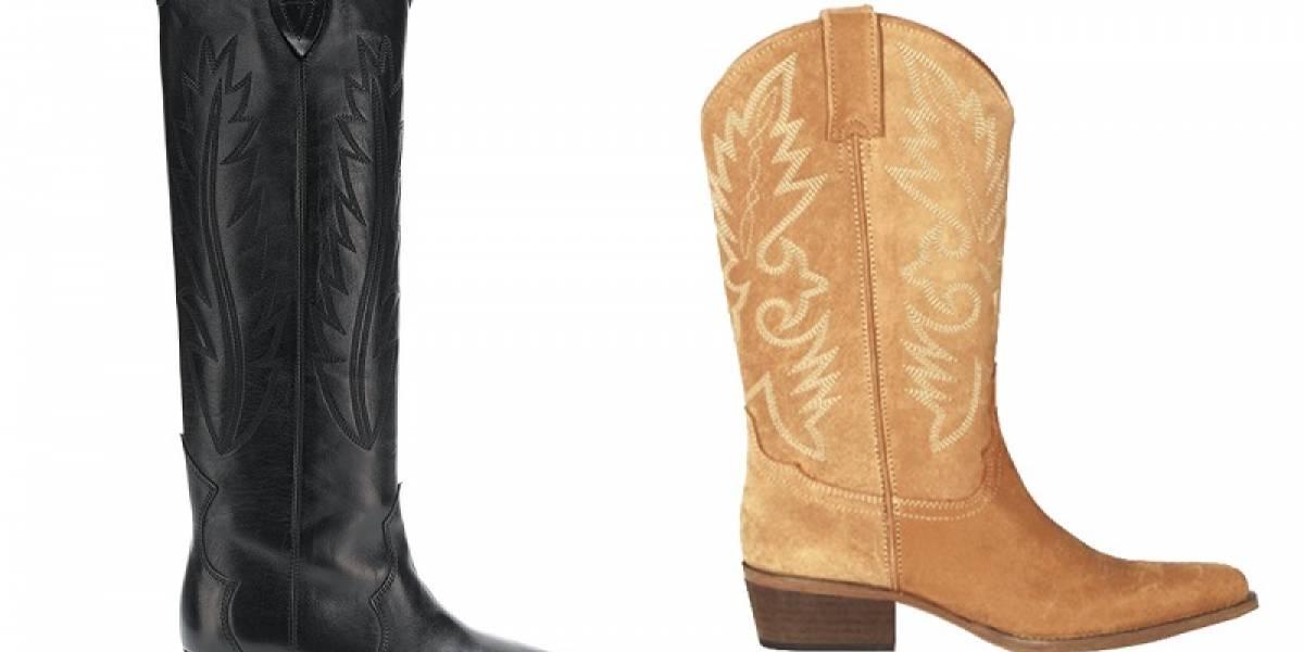Las botas cowboy; el calzado que gana terreno en esta temporada