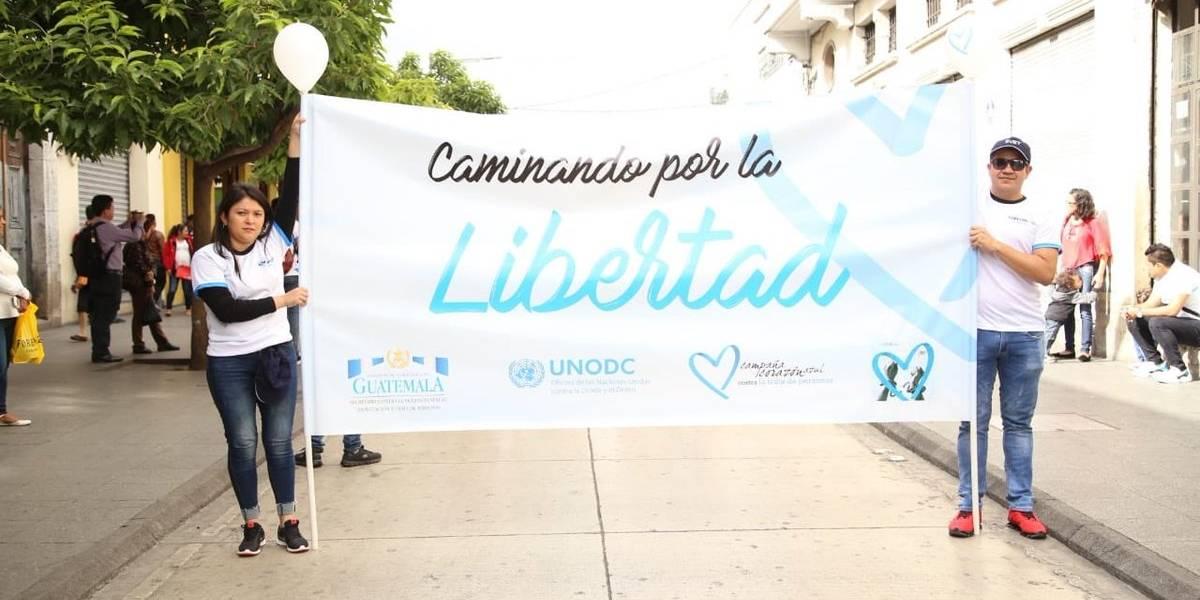 Once departamentos se unen a movimiento contra la trata de personas