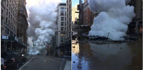 Explosión de tubería en Nueva York