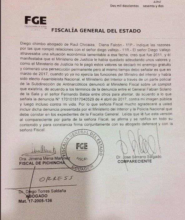 José Serrano asegura que sí se reunió con Chicaiza Captura de pantalla