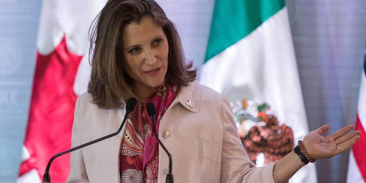 Canciller de Canadá viaja a México; se reunirá con Peña y AMLO