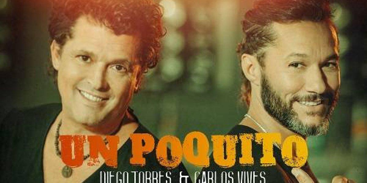 Diego Torres y Carlos Vives cantan juntos por primera vez en 'Un poquito'
