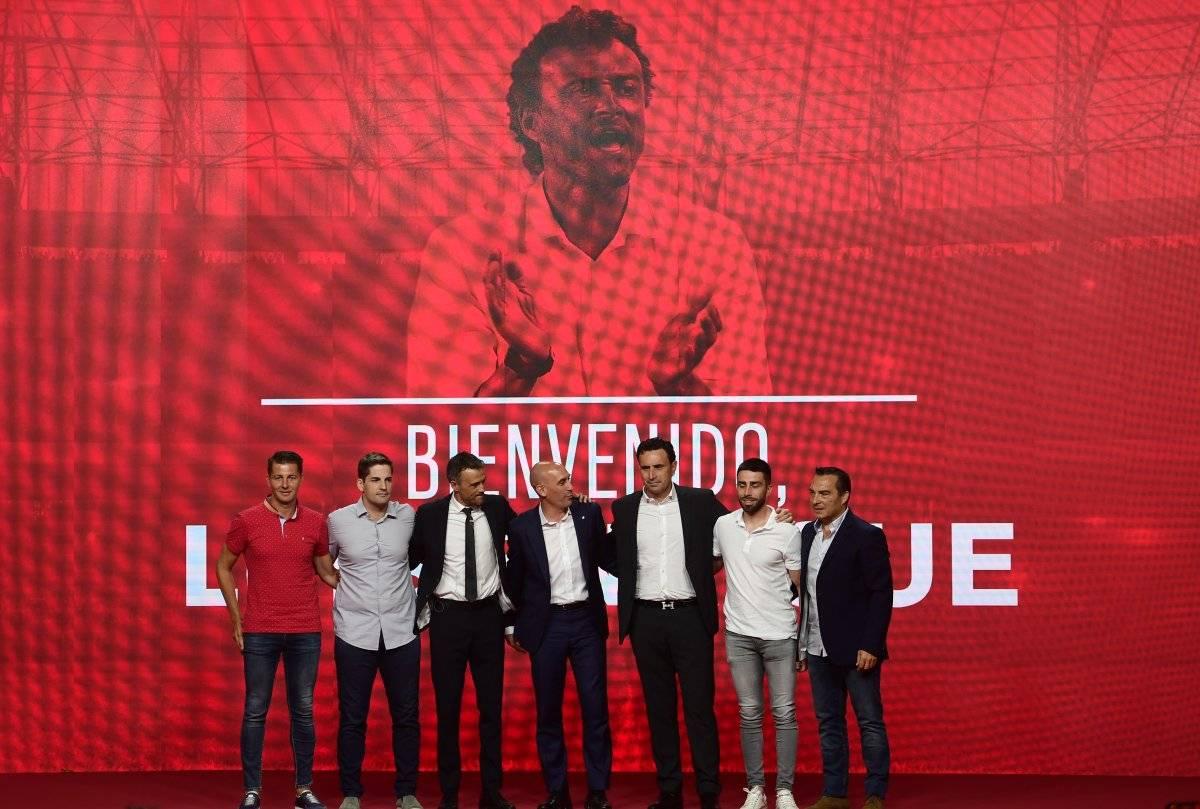 Luis Enrique y su cuerpo técnico