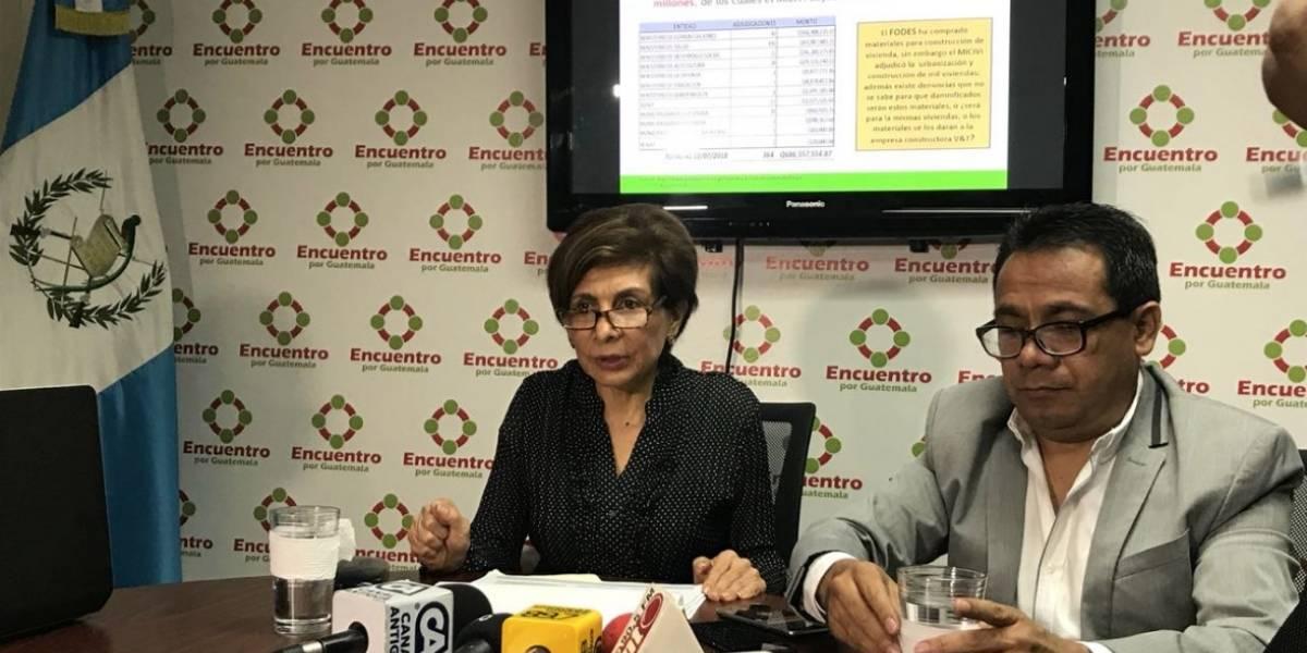 Nineth Montenegro señala sobrevaloración en compras durante Estado de Calamidad