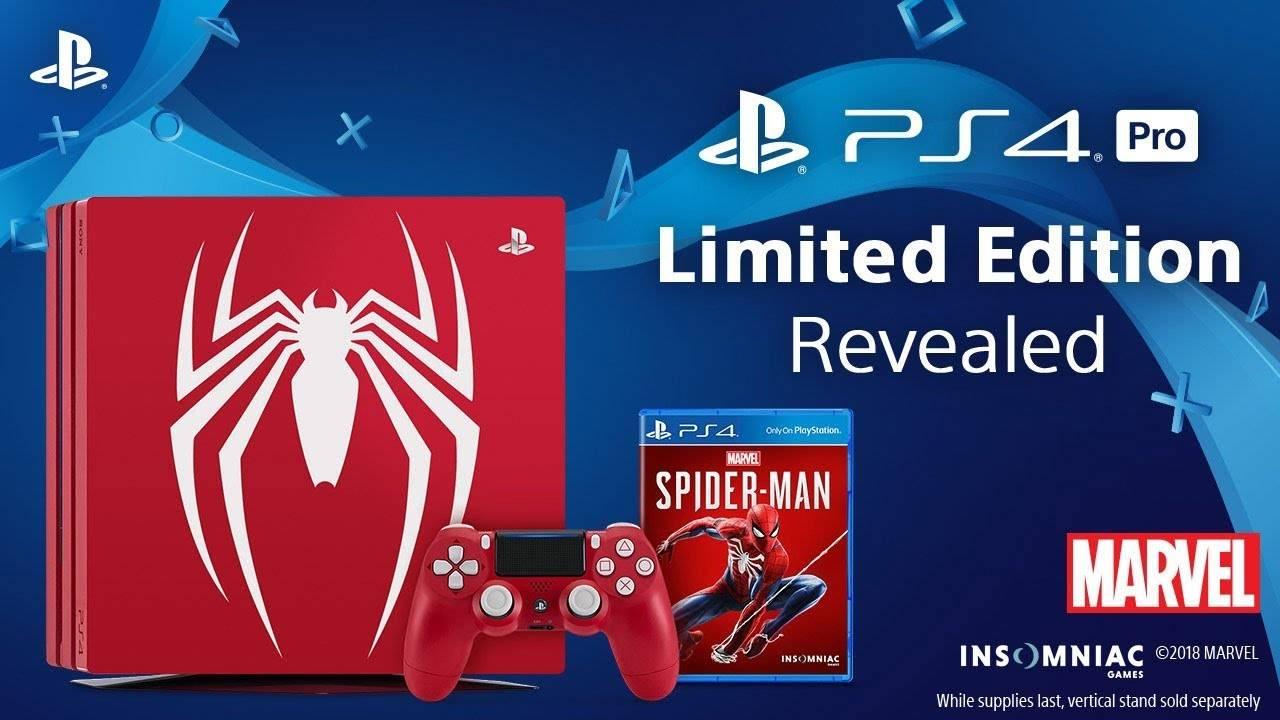 Sony anuncia una atractiva consola PlayStation 4 Pro con diseño de Spider-Man #SDCC
