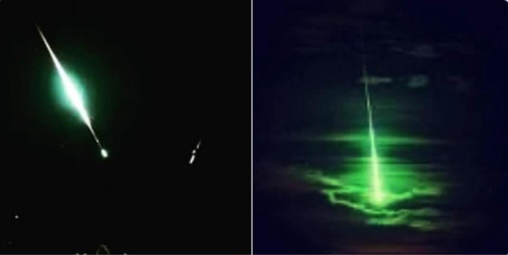 La única imagen del meteorito antes de estrellarse contra el suelo