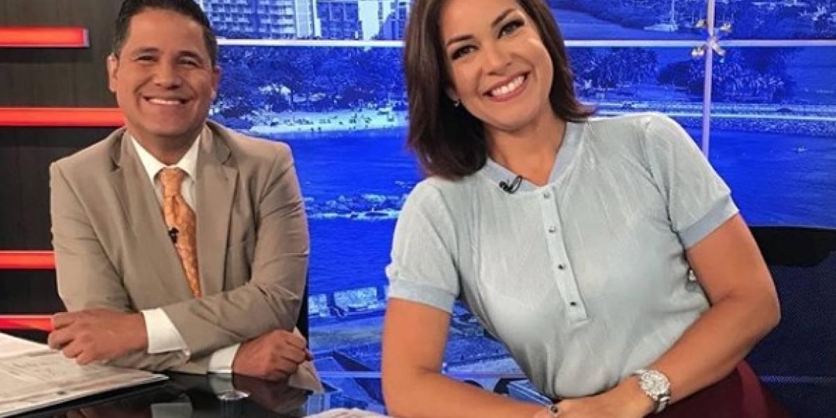 Normando Valentín y Mónika Candelaria se despiden de uno de sus compañeros