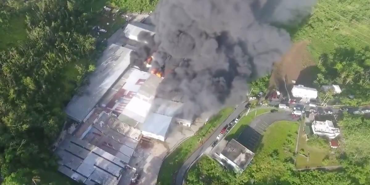 Se reporta incendio de grandes proporciones en Guaynabo