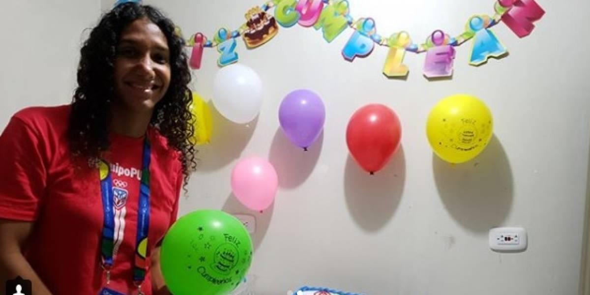 Abanderada de Puerto Rico celebró emotivo cumpleaños en Juegos Centroamericanos