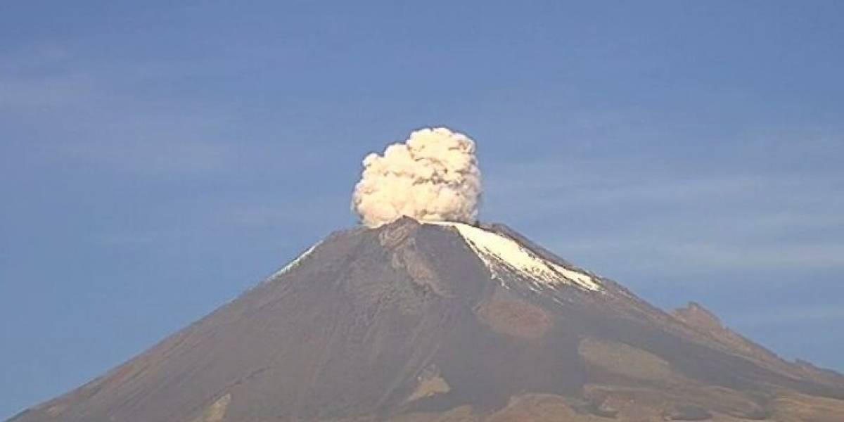 Volcán Popocatépetl incrementa actividad con 64 exhalaciones