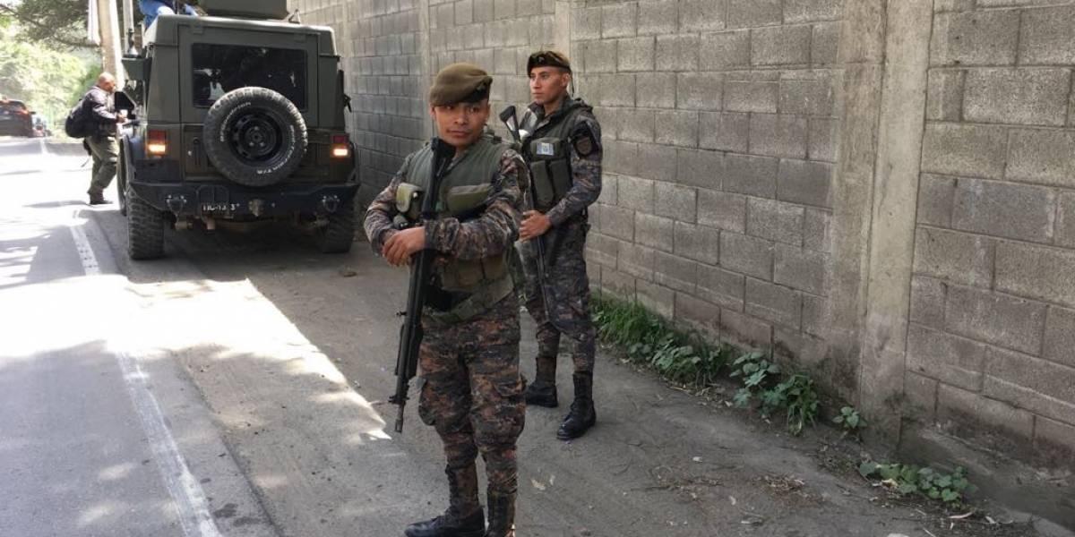 Fuerzas de seguridad realizan operativo en Bárcenas, Villa Nueva