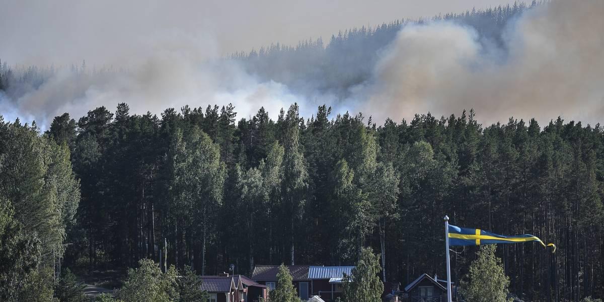 El cambio climático causa estragos en Suecia: Voraces incendio forestales consumen bosques cercanos al círculo polar ártico