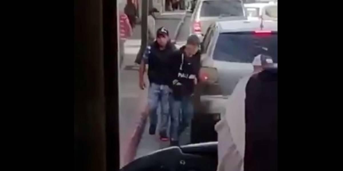 VIDEO. Capta el momento de un robo en zona 1 y delata a responsables
