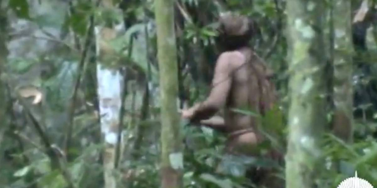 Video muestra a último indígena brasileño