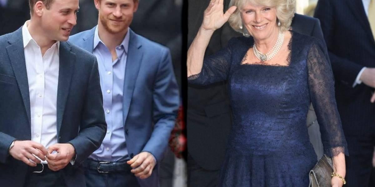 Camilla Parker hizo enfurecer a los príncipes Harry y Guillermo