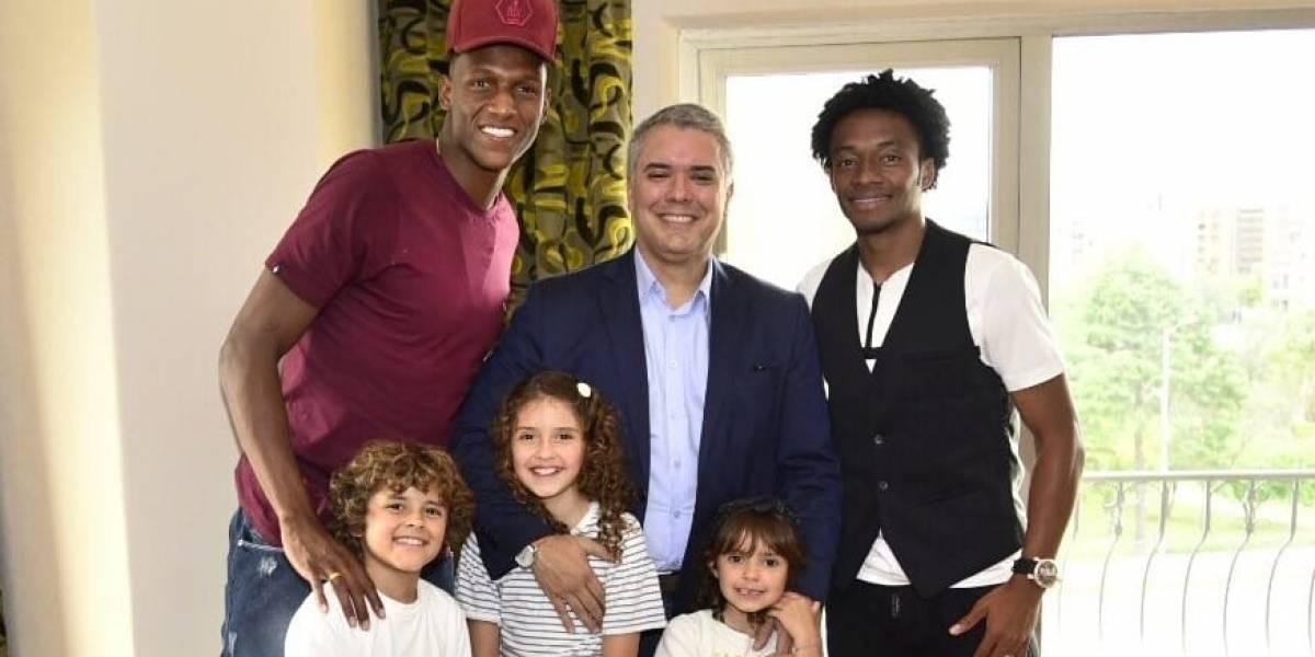 Mina y Cuadrado se reunieron con el presidente Iván Duque