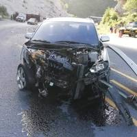 Accidente de tránsito en la ruta Interamericana.