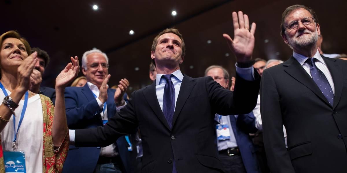 Pablo Casado sustituye a Rajoy como dirigente del Partido Popular