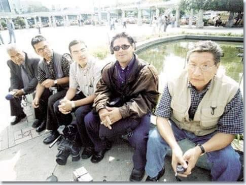 Periodistas durante el Jueves Negro. Foto: Archivo Héctor Ramírez hijo