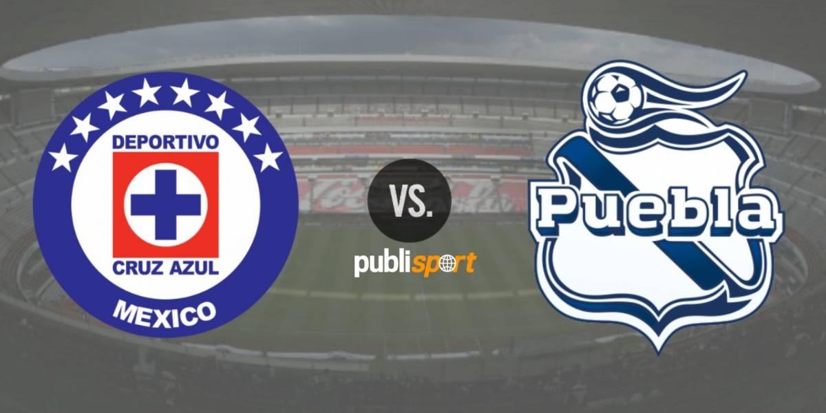 Cruz Azul golea al Puebla en su regreso al Estadio Azteca