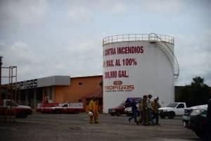 Incendio en planta de gas en la Petapa