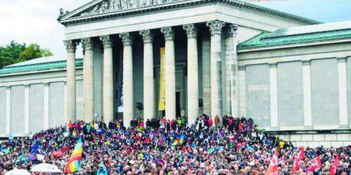 """Protesta en Alemania contra """"la política del miedo"""""""