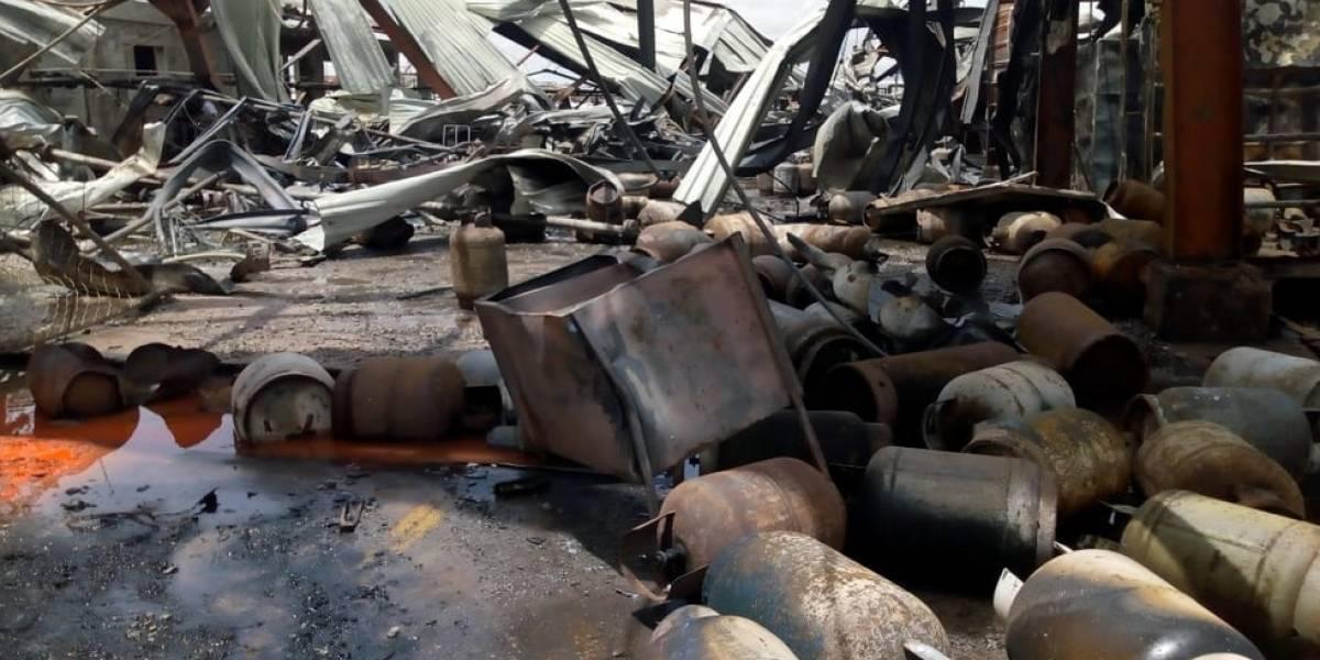 EN IMÁGENES. Las fotografías más impactantes del incendio en planta de gas
