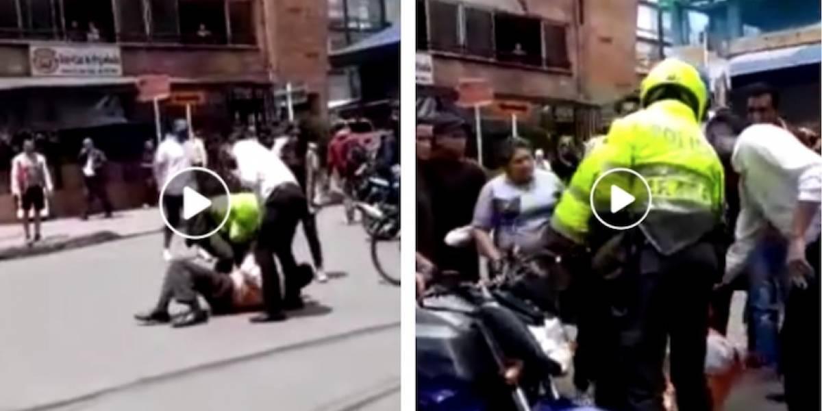 Video: denuncian caso de abuso policial contra un adulto mayor en Bogotá