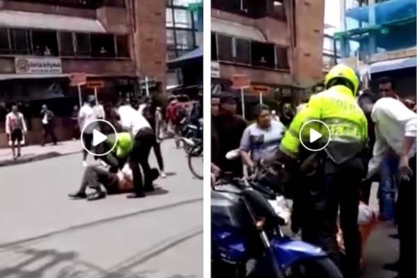 caso de abuso policial contra un adulto mayor en Bogotá