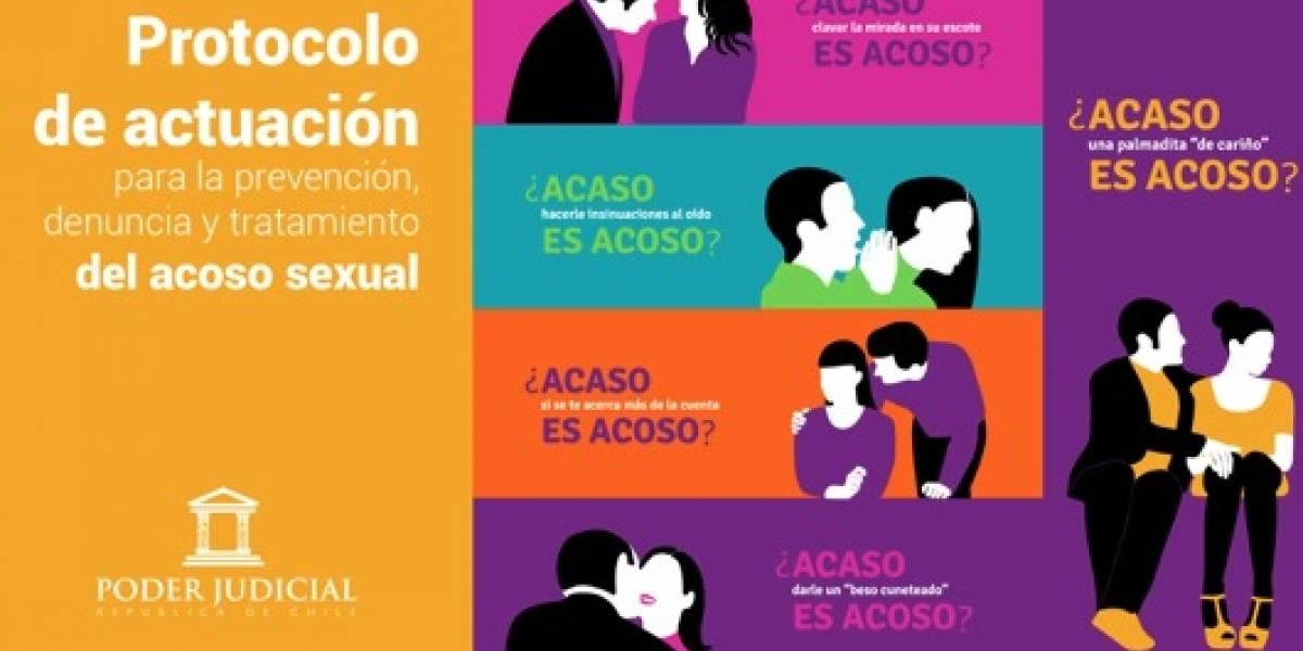 Acoso sexual será atacado con fuerza por el Poder Judicial chileno tras aprobación de protocolo