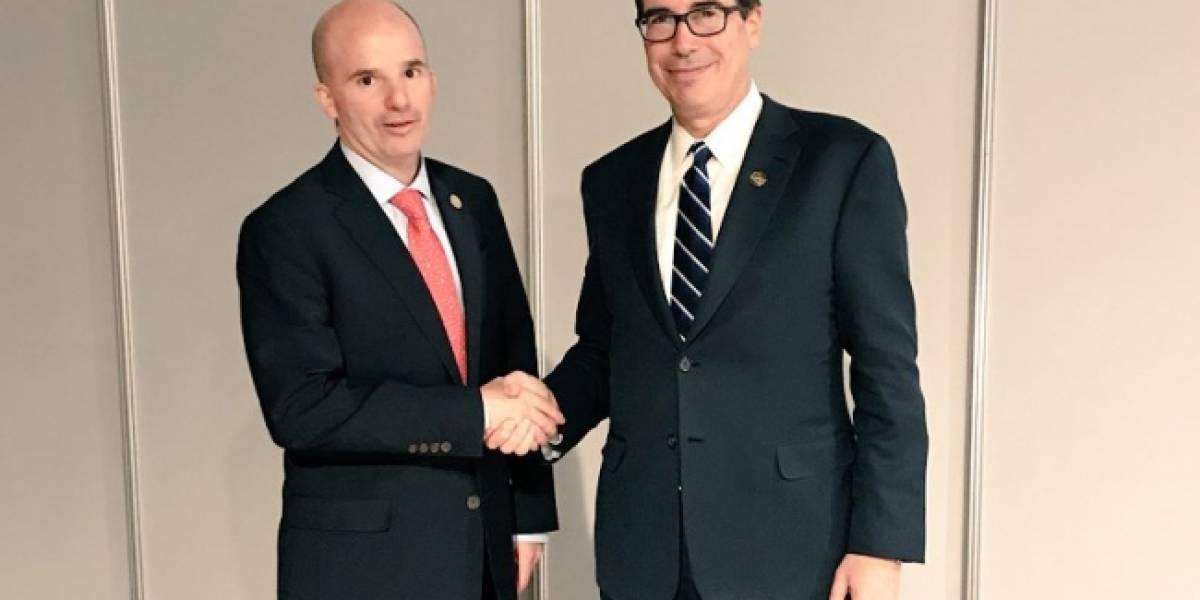 González Anaya conversa con ministros de finanzas de EU y Canadá