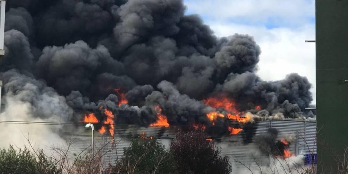 Impactante incendio que consumía supermercado Líder en Osorno logró ser controlado